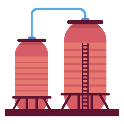 Factory liquid containers illustration