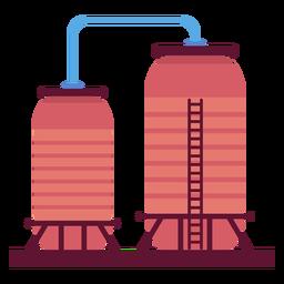 Ilustração de recipientes de líquido de fábrica