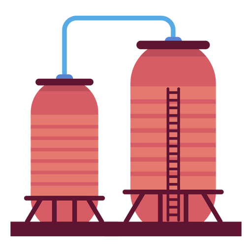 Factory liquid containers illustration Transparent PNG