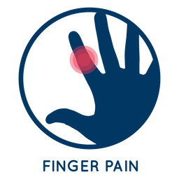 Finger pain icon