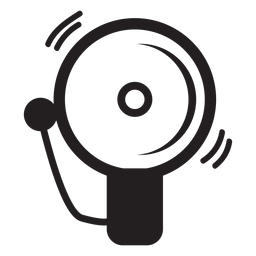 Icono de campana de alarma de bombero