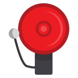 Firefighter alarm bell illustration