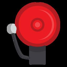 Ilustración de campana de alarma de bombero