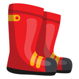 Firefighter boots illustration