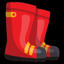 Ilustración de botas de bombero