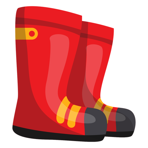 Firefighter boots illustration Transparent PNG