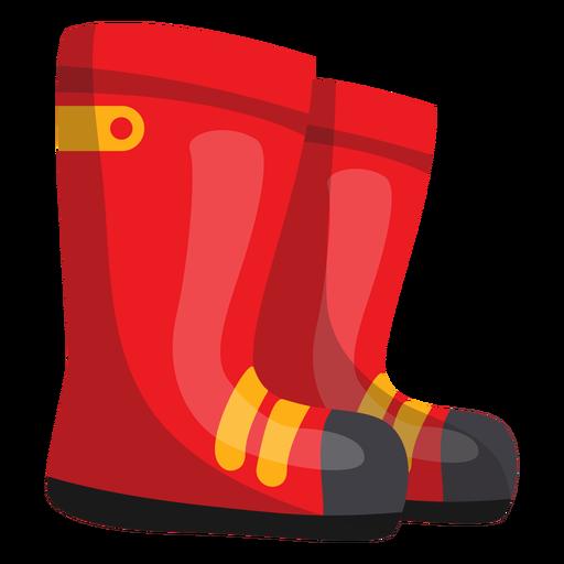 Firefighter boots illustration