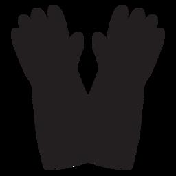 Feuerwehrmann-Handschuhe-Symbol