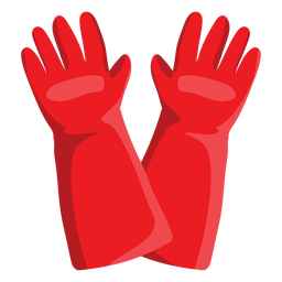 Firefighter gloves illustration