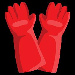 Ilustración de guantes de bombero
