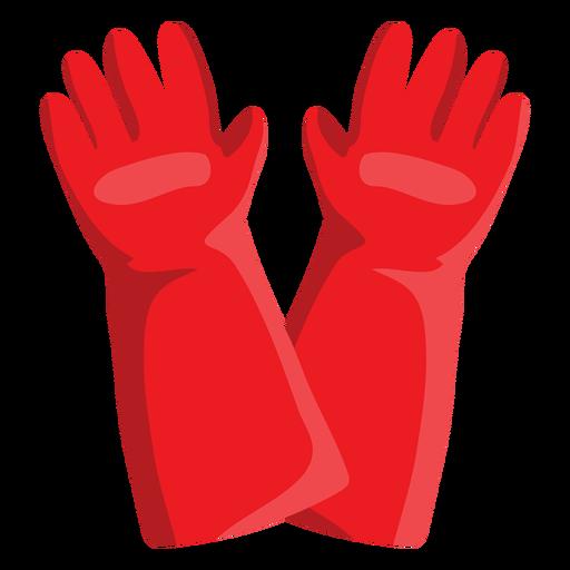 Ilustración de guantes de bombero Transparent PNG