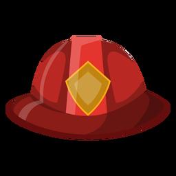 Ilustração de chapéu de bombeiro