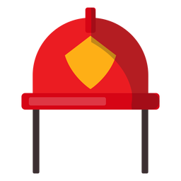 Ilustração de capacete de bombeiro