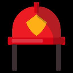 Ilustración de casco de bombero