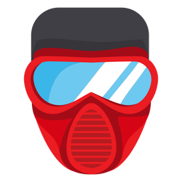 Firefighter mask illustration