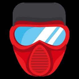 Ilustración de máscara de bombero