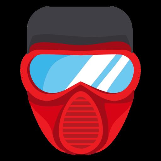 Firefighter mask illustration