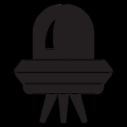 Icono plano de plato volador