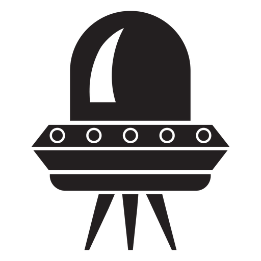 Flying saucer flat icon Transparent PNG