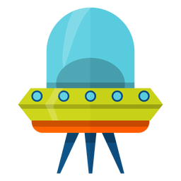 Flying saucer illustration