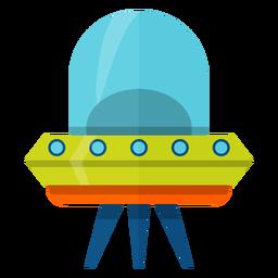 Ilustración de platillo volador
