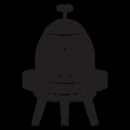 Icono plano de platillo volador para niños