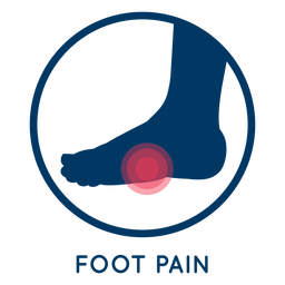 Foot pain icon