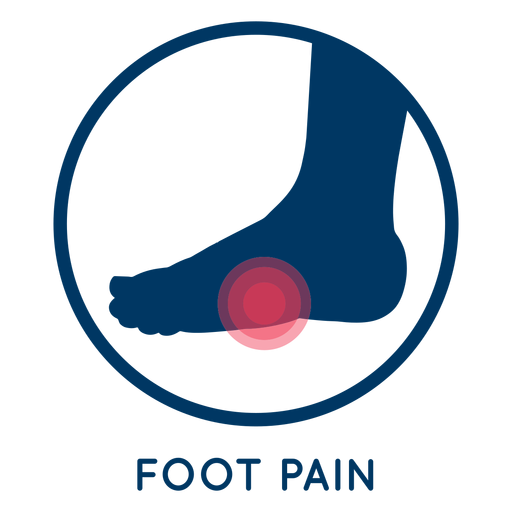 Foot pain icon Transparent PNG
