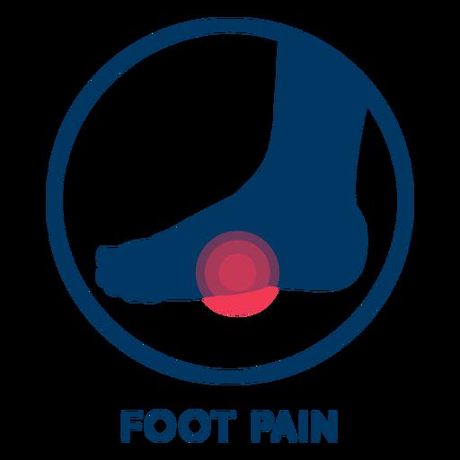 Icono de dolor de pie Transparent PNG