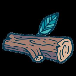 Desenhos animados de log de árvore de floresta