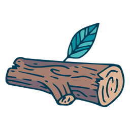 Forest tree log cartoon