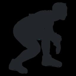 Freestyle wrestler silhouette