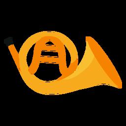 Französisch Horn Musikinstrument Symbol