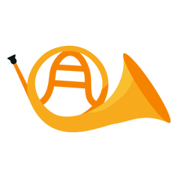 Icono de instrumento musical de cuerno francés