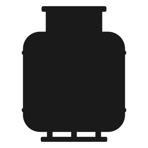 Gas cylinder silhouette Transparent PNG
