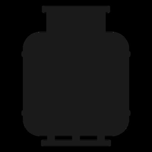 Silueta del cilindro de gas Transparent PNG
