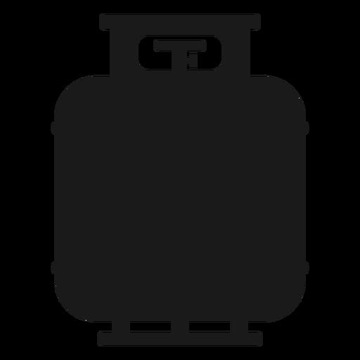 Silueta del tanque de gas Transparent PNG