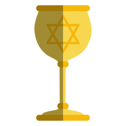 Golden goblet with jewish star