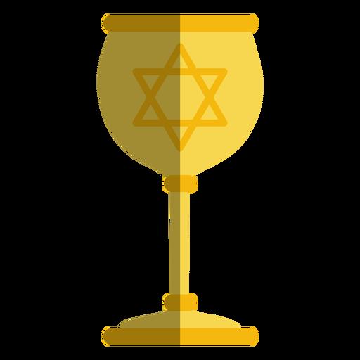 Golden goblet with jewish star Transparent PNG