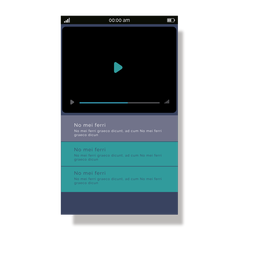 Green media player mobile interface