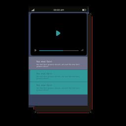 Interfaz móvil del reproductor multimedia verde