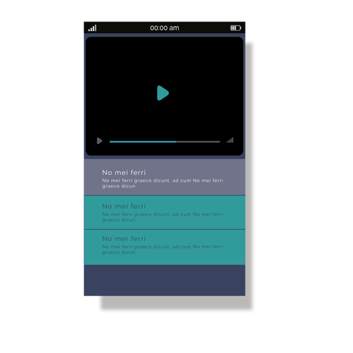 Green media player mobile interface Transparent PNG