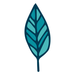 Desenhos animados de folha de árvore verde