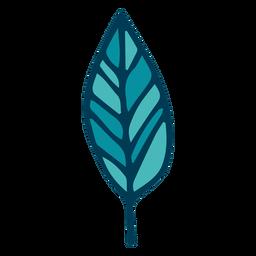 Dibujos animados de hoja de árbol verde