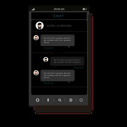 Interface de aplicativo de bate-papo cinza