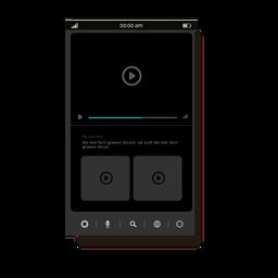 Interfaz de usuario del reproductor multimedia gris