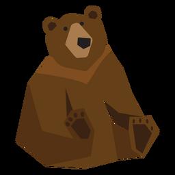 Urso pardo, sentando, ilustração