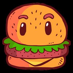 Dibujos animados de personaje de hamburguesa