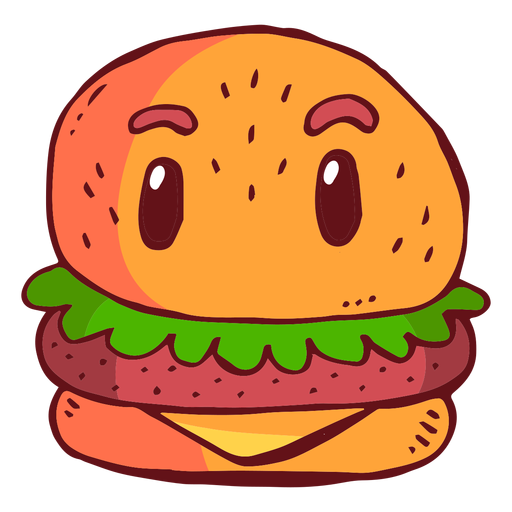 Hamburger character cartoon Transparent PNG