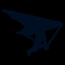 Hand glider silhouette
